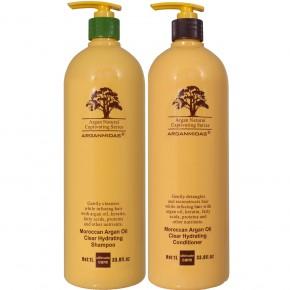 Rinkinys: Arganmidas Moroccan Argan Oil Clear Hydrating šampūnas ir kondicionierius