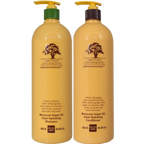 Arganmidas Komplekt: Moroccan Argan Oil Clear Hydrating šampoon ja juuksepalsam
