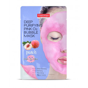 Purederm Deep Purifying O2 Bubble Mask Sügavpuhastav sädelev näomask 25g