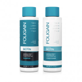 Foligain Rejuvenating Biotin Shampoo & Conditioner Noorendav biotiini šampoon ja palsam